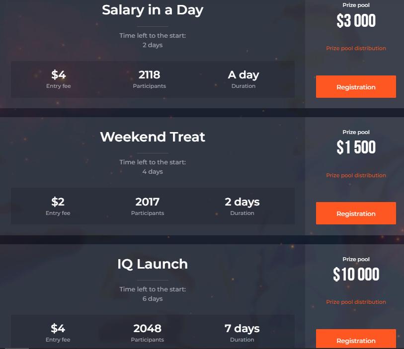IQ Option Ticaret Turnuvaları - 50.000 $ 'a Kadar Ödül Havuzu